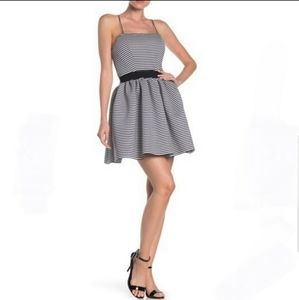 LOVE..ADY STRIPED SLEEVELESS FIT & FLARE DRESS